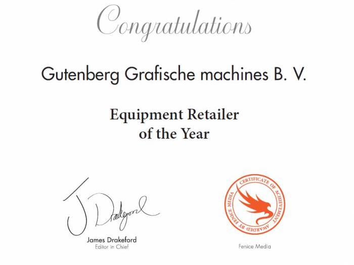 Picture4 Amsterdam Prestige Awards for Gutenberg grafische machines