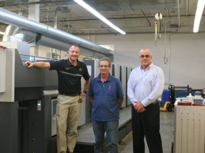 Picture10 Vanderbilt university installs Heidelberg SM74-6 L from Dixie Reproductions.
